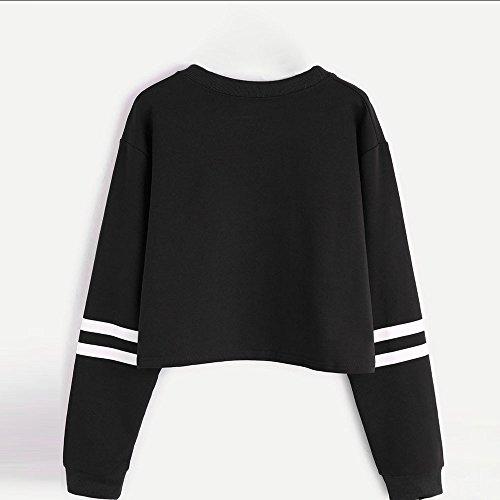 talla 40 99d77 dccdd Mujer Sudaderas Cortas , VENMO 2017 Otoño Nuevo Moda BLACKDOPE Impresión  Manga Larga Blusa Tops