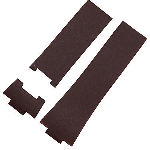 26mm marrone cinturino per orologio in gomma Band compatibile con Ulysse...