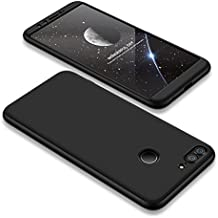 Bigcousin Custodia per Huawei Honor 9 Lite, Custodia Ultra-Sottile a 360 Gradi per Protezione [Vetro temperato] Custodia Rigida per PC Anti-graffio Cover Case per Huawei Honor 9 Lite - Nero