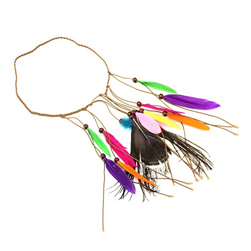 Asener crafts feather headdress, native american indian wilderness style, scegli il colore,g
