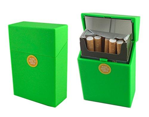 Offre Lagiwa - Etui à paquet de 20 cigarettes couleur au choix avec 1 cadeau bonus (Vert Mat)