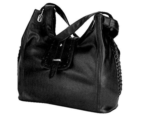 Alessandro® AGO 3028 Handbag Damen Tasche 3-RV-Hauptfächer Handyfach RV-Rückfach in 3 Farben Violett