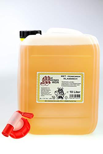 MET Amensis Original MET - Honigwein klassisch lieblich, traditionell, 10 Liter Kanister incl. Zapfhahn (1 x 10 l)