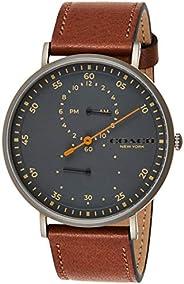 ساعة يد كوارتز للرجال من كوتش - سوار جلد بني - 14602474