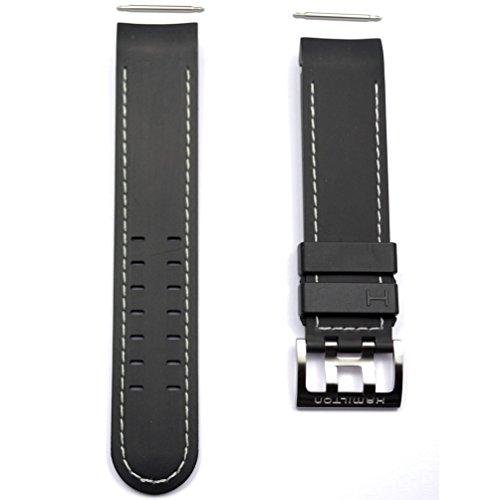 Cinturino in gomma nero per orologio Hamilton Khaki X-Wind automatico...