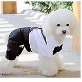 Aisoway Perro Mamelucos De La Ropa Formal Mono Perro con Pajarita del Smoking del Novio para Perros Suéter Outwear Vestuario M
