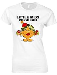 Women's Little Miss Pisshead Drinking T Shirt