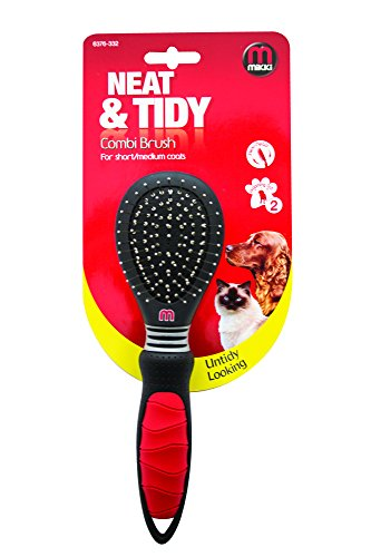 Mikki Combi Brush, Grooming Brush for Dogs and Cats with Short/Medium Coats - Small Test
