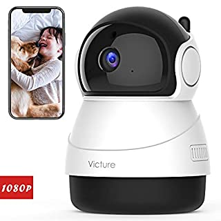 Victure 1080P FHD WiFi IP Camera Wireless Indoor Camera with Night Vision Motion Detection 2-Way Audio Home Security Surveillance Pan/Tilt/Zoom Monitor for Baby/Elder/Pet