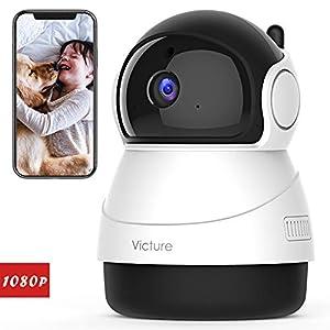[Nuova Versione] Victure 1080P Telecamera WiFi di Sorveglianza, Videocamera Interna con Rilevamento del Suono e del… 41CpPYPvLRL. SS300