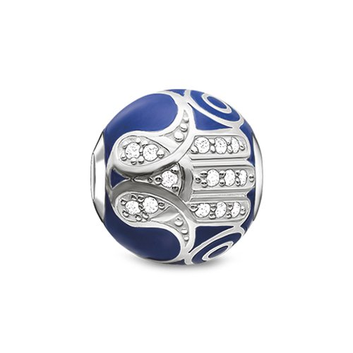 Thomas Sabo Damen-Bead Karma Blaue Fatimas Hand 925 Silber - K0207-041-32