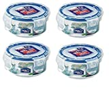 Lock & Lock 100ml Extra Small Round Storage Containers, Set of 4 by Online Kitchenware