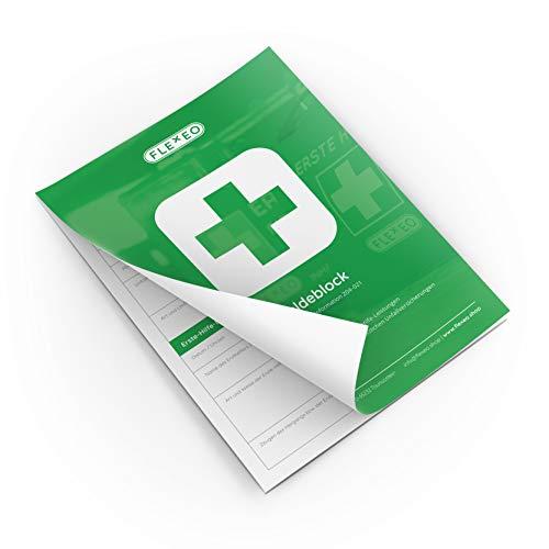 Meldeblock Erste Hilfe, gem. DGUV Information 204-021 (A5, 50 Blatt) weiß -