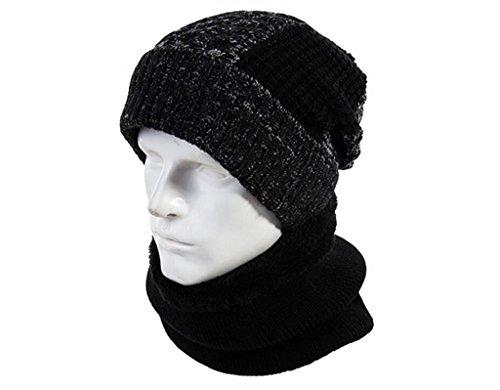 Hat Chapeau d'hiver, chapeau des hommes de mode, chapeau chaud Noir