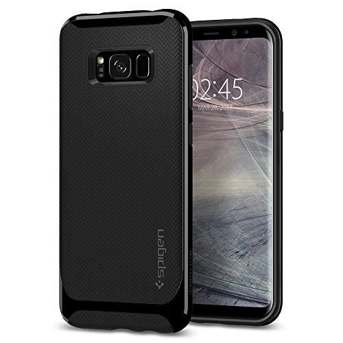 Spigen 565CS21599 Neo Hybrid für Samsung Galaxy S8 Hülle, Zweiteilige Handyhülle Modische Muster Silikon und PC Rahmen Schutzhülle Case Shiny Black Neo Hybrid