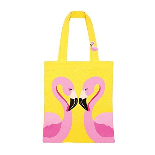 SunnyLIFE Baumwollleinwand öffnen Tote Strandtasche tragen alle Einheitsgröße Flamingo -