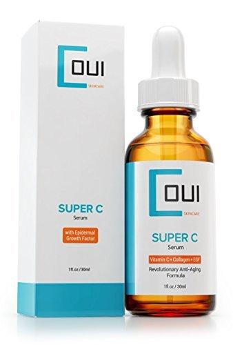 Super C Serum - Best Collagène Soin De Peau Pour Visage et Yeux a Percée en Anti-âge - Avec Vitamines C + EGF + Marine Kelp + Acide Hyaluronique - Effectif Ride Et Acné Cicatrice Traitement