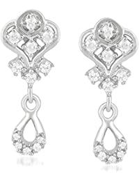 b17bb749a Mahi Rhodium Plated Delightful CZ Stud Earrings for girls and women  ER1109503R