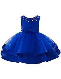 YFCH Abito Bambina Principessa Vestito da Cerimonia per Damigella con  Bowknot Floreale Abiti per Matrimonio Carnevale aa24e17ca93