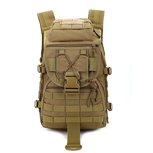 Taktischer Rucksack / Military Rucksack / Molle Rucksack / Assault Pack / Bug Out Tasche für Jagd Schießen Camping Wandern Reisen Schule (khaki)