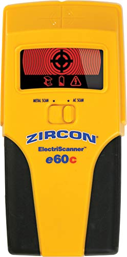 Zircon 69206 Elektronik-Scanner e60c Berührungsloser AC & Metall Scanner mit Advanced ColorTrip-Display