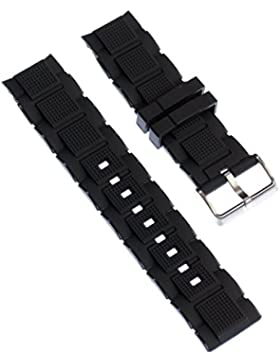 Calypso Uhrenarmband Sport Armband-Material PU schwarz für Calypso K5577 Uhren