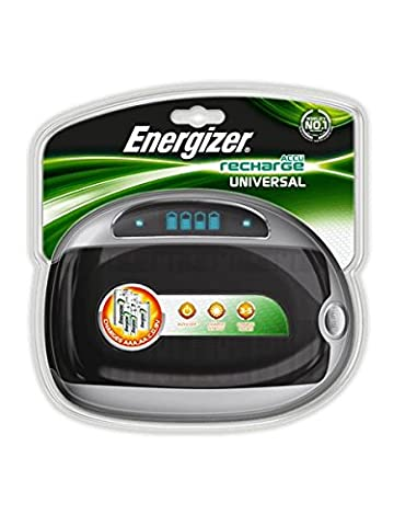 Energizer Universal Battery Charger with Smart LCD 2-5Hrs Charging Time for Ni-MH AAA AA C D 9V Ref