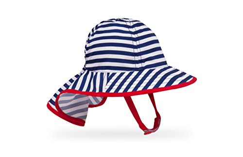 Sunday Afternoons Sonnenhut Baby Kids Infant Sunsprout Hat, Farbe:Navy Stripe
