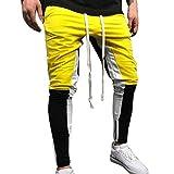 YanHoo Pantalones de chándal Sueltos Ocasionales de la Aptitud del Deporte de los Hombres...
