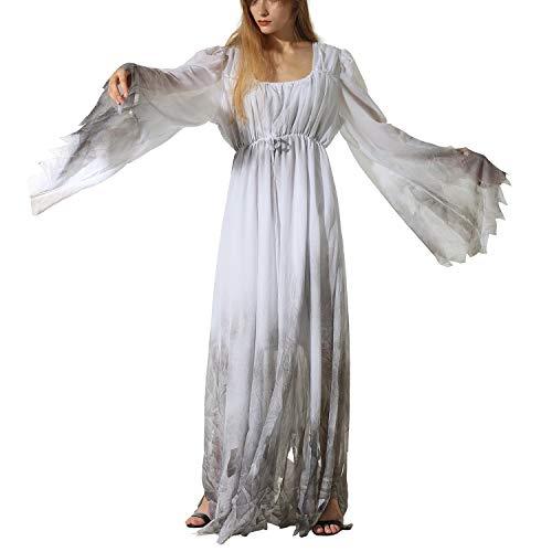 host Bride Vampire Cos Rollenspiele Makeup Party Stage Persönlichkeit Bizarres Kostüm - Polyester-White-XL ()