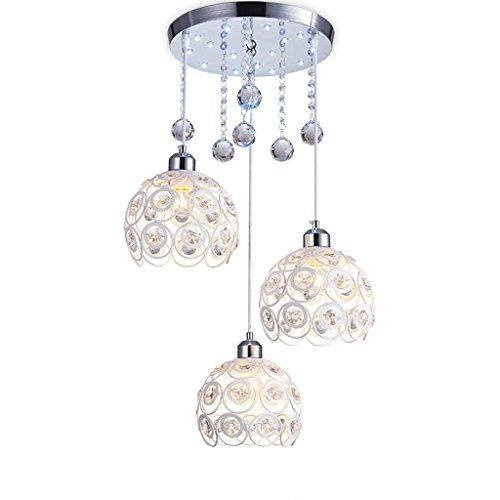 Aczz ristorante lampadario tre moderna lampada a sospensione a led sala da pranzo sala da pranzo casa balcone di cristallo personalità creativa lampadario illuminazione illuminazione a soffitto,3 lam
