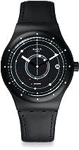 Swatch Herren Armbanduhr Digital Automatik Leder SUTB400