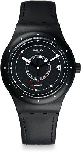 Swatch Orologio Digitale Automatico Uomo con Cinturino in Pelle SUTB400