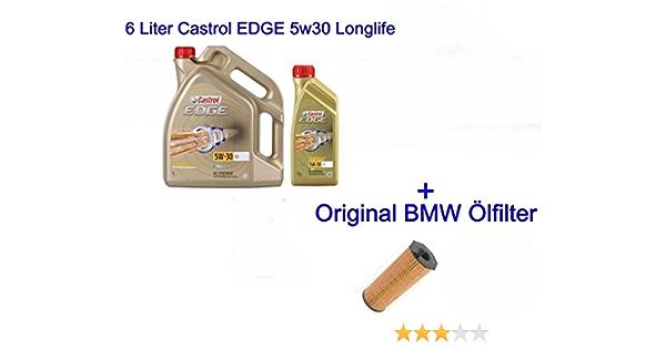 6l Castrol Edge 5w30 Engine Oil Compatible With Bmw Longlife 04 1 F20 F21 X1 X3 X5 E90 Mini Cooper Auto
