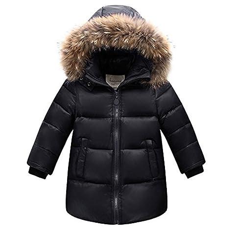 LSERVER-Daunenjacke kinder Winterjacke mit Kaputze Daunenmantel mädchen Junge Baby Verdickte