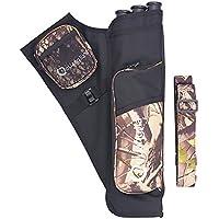AZX Carcaje para Arco, Tiro al arco Caza al arco flecha, Cinturón 3 Tubo Archery Arrow Holder Bag (Camuflaje)