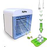 EigPluy Air Cooler Personali Climatizzatore Portatile Mini Raffreddatore D'aria Piccolo Ventilatore USB Dello Scrittorio Raffreddatore Evaporativo Compatto con Umidificatore e Purificatore d'aria