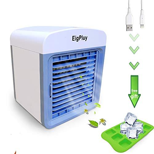 EigPluy Espacio Personal Enfriador de Aire Mini Aire Acondicionado Portátil USB Ventilador Escritorio...