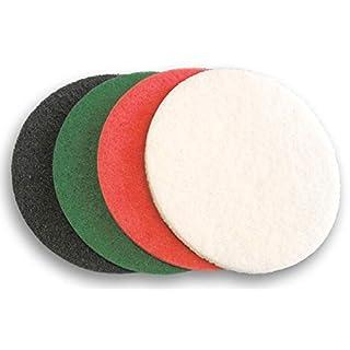 406mm (40,6cm) Premium Heavy Duty Boden Reinigung Puffer Pads mit abnehmbarem vorgeschnittenen Mitte Loch. Pack der 4verschiedene Sorten.