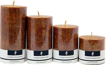 Real Store Scented Candles Set of 4 (Brown)