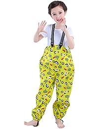 Niños Pantalones de Lluvia Impermeable Monos impermeables para niños y niñas