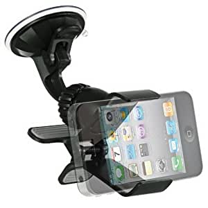 Importer520 Clipper Car Mount Universal Vehicle Swivel Holder For LG Optimus Vu VS950(Verizon)