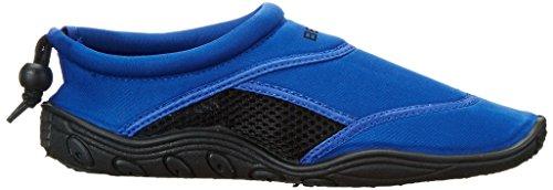 BECO chaussure aquatique chaussures de bain chaussons d'eau chausson de sport pour femme et homme divers couleurs Multicolore (bleu/noir)
