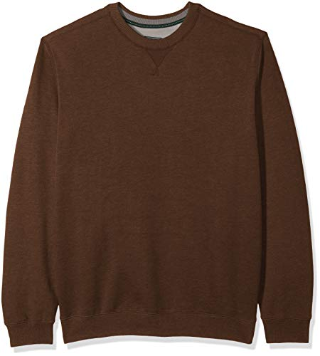 Big And Tall Crew Sweatshirt (G.H. Bass & Co. Herren Sweatshirt Big and Tall Mountain Fleece Soft Crew Neck - Beige - 4X-Large Groß)