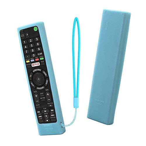 g Hülle SIKAI Tropfen schützende Silikon Hülle für Sony RMT-TX300E, RMF-TX200E Smart TV Fernbedienung Schutzhülle Staubdicht Anti-Rutsch Anti-Verlorene mit Schlüsselband ()