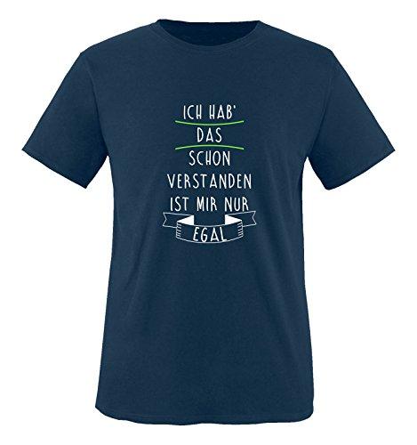 Comedy Shirts - Ich hab das Schon verstanden, ist Mir nur egal. - Jungen T-Shirt - Navy/Weiss-Neongrün Gr. 110/116