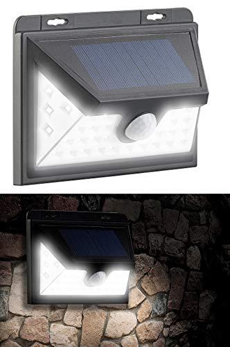 Luminea Solar-Wand-Leuchte LED: Solar-LED-Wandleuchte mit Bewegungs-Sensor & Akku, 350 Lumen, 7,2 Watt (Nachtbeleuchtungen) (Wand Led-leuchten Solar)