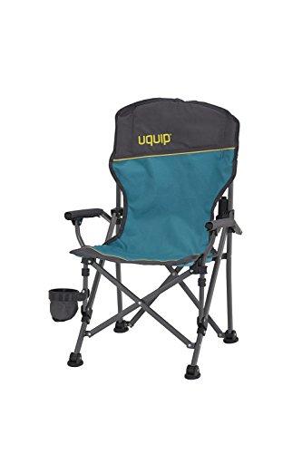 Uquip Kirby Chaise de Camping pour Enfant Pliable – Avec Protection Anti-Pincement et Un Porte Boissons – Poids léger de 2Kg et une Capacité de Charge de 60 Kg