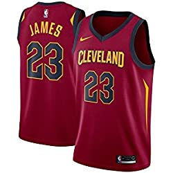Nike Cle W Nk Swgmn Jsy Road Camiseta 2ª Equipación Cleveland Cavaliers 17-18 de Baloncesto, Mujer, Rojo (Team Red/University Gold/College Navy), 2XL