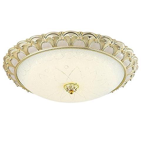 European Style Elegant Circular Ceiling Light, Modern Minimalist LED Ceiling Laght for Living Room, Bedroom, Restaurant